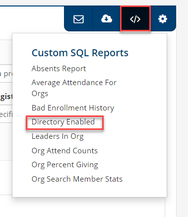 Directory Enabled Report