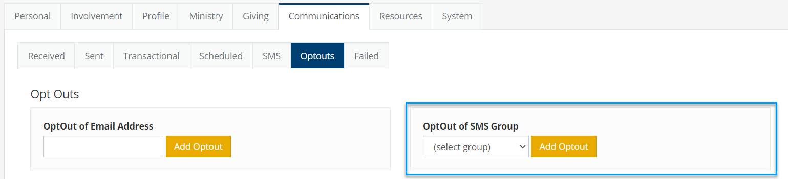 SMS OPT OUT